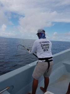 sport fishing hooked